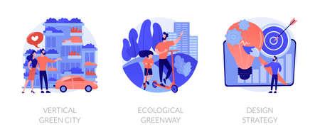 Environmental urban solutions abstract concept vector illustrations.
