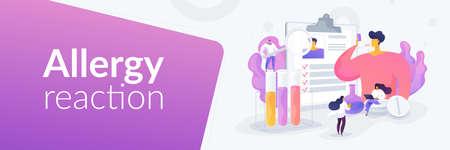 Allergic diseases landing page concept Ilustración de vector
