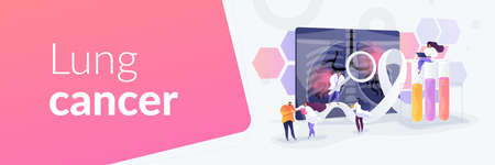 Lung cancer concept banner header