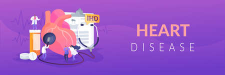 Ischemic heart disease concept banner header