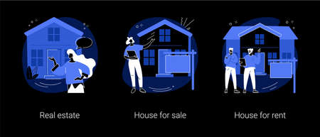 Real estate services abstract concept vector illustrations.