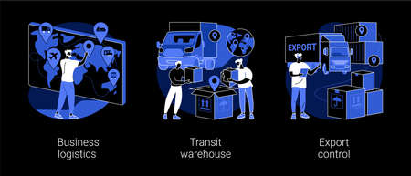 Smart logistics technologies abstract concept vector illustrations.