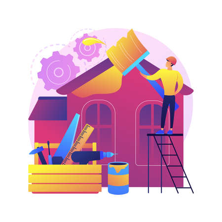 House renovation abstract concept vector illustration.