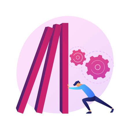 Resilience abstract concept vector illustration. Training mental strength, building emotional resilience, psychological flexibility, resilient personality, coping with problems abstract metaphor.