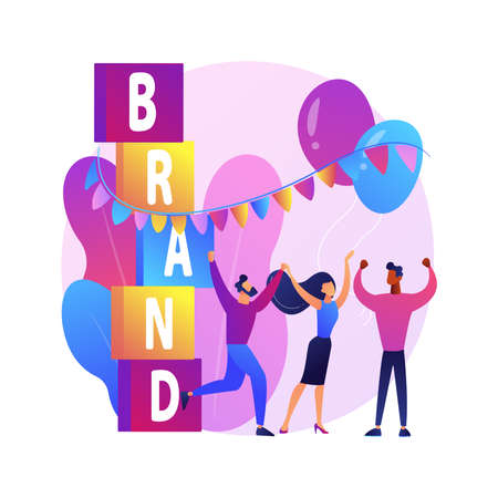 Brand event abstract concept vector illustration.