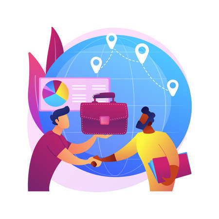 Chatbot customer service abstract concept vector illustration. Ilustrace