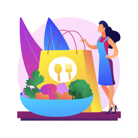 Meal prep service abstract concept vector illustration.