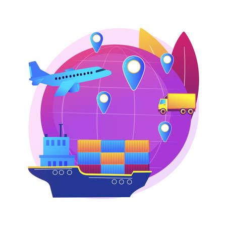 Global transportation system abstract concept vector illustration.