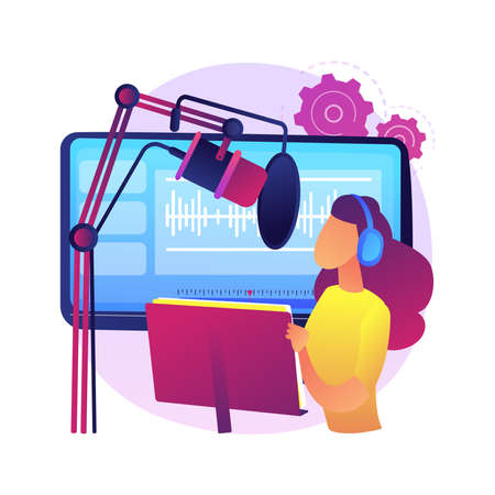 Voice over services abstract concept vector illustration. Vecteurs