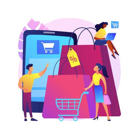 Consumer society abstract concept vector illustration.