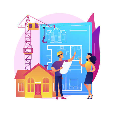 Real estate development abstract concept vector illustration.