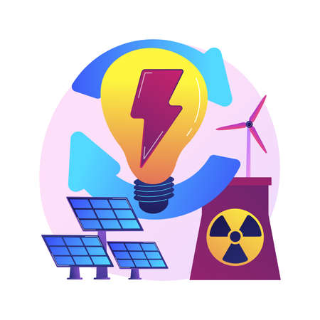Alternative energy vector concept metaphor Stock Illustratie