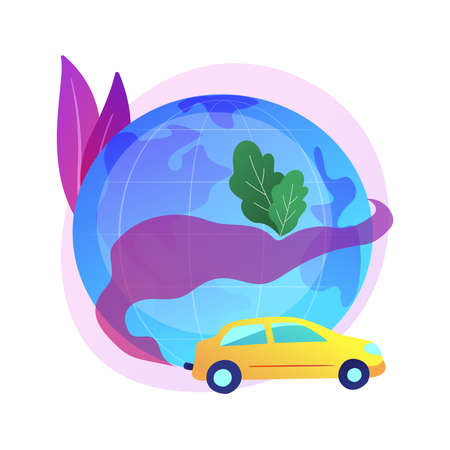 Motor vehicle pollution abstract concept vector illustration. 矢量图像