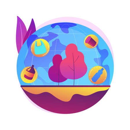 Soil pollution abstract concept vector illustration.