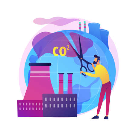 CO2 emission vector concept metaphor