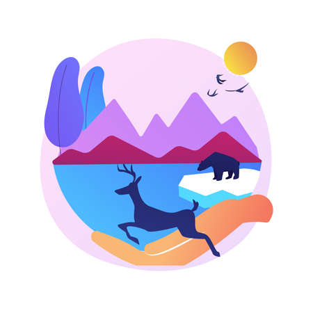 National parks creation abstract concept vector illustration.