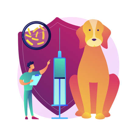 Rabies and your pet abstract concept vector illustration.
