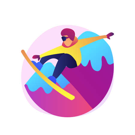 Winter extreme sports abstract concept vector illustration.
