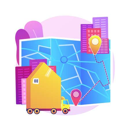 Interurban migration abstract concept vector illustration. 矢量图像