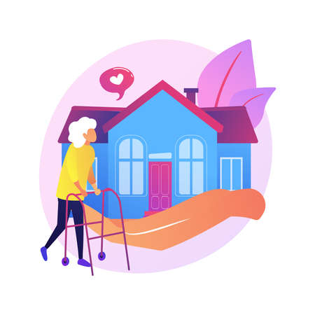 Home help abstract concept vector illustration.