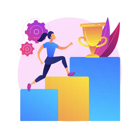 Personal development abstract concept vector illustration.