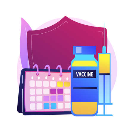 Vaccination program abstract concept vector illustration. Ilustrace