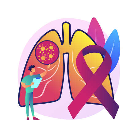 Lung cancer abstract concept vector illustration.