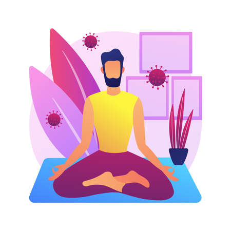 Self isolation abstract concept vector illustration.