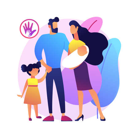 Parental responsibility abstract concept vector illustration.
