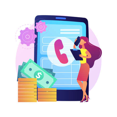 Pay call vector concept metaphor