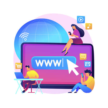 Internet addiction abstract concept vector illustration. Иллюстрация