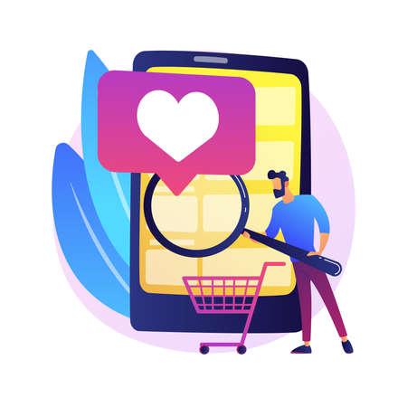 Smart retail abstract concept vector illustration. Vektoros illusztráció