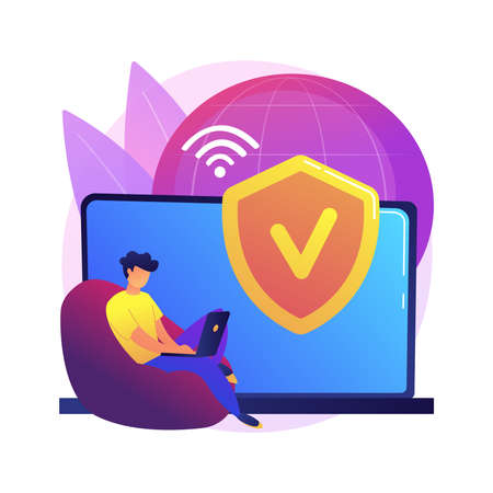 VPN access abstract concept vector illustration.