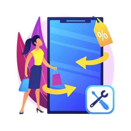 Refurbished device abstract concept vector illustration.