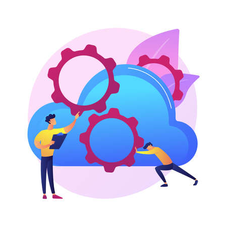 Cloud engineering abstract concept vector illustration.