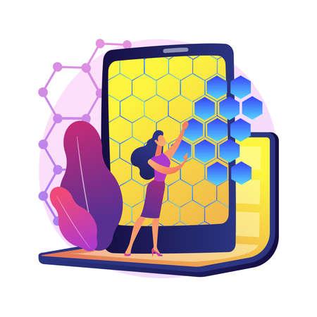 Graphene technologies abstract concept vector illustration.