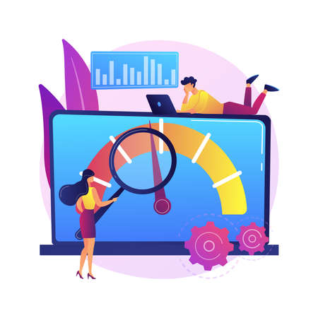 Benchmark testing abstract concept vector illustration.