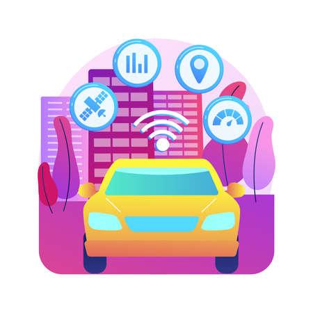 Intelligent transportation system abstract concept vector illustration.