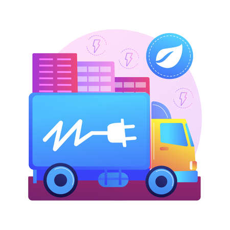 Electric trucks abstract concept vector illustration.