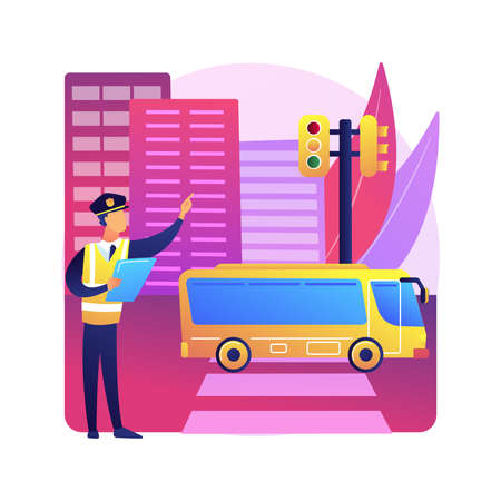 Traffic laws abstract concept vector illustration.