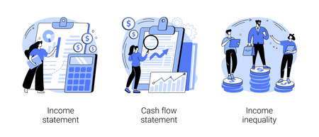 Balance sheet abstract concept vector illustrations. 일러스트