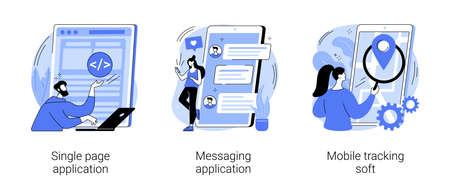Web development abstract concept vector illustrations. Ilustración de vector
