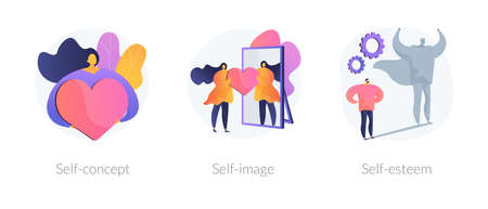 Personal image abstract concept vector illustrations.