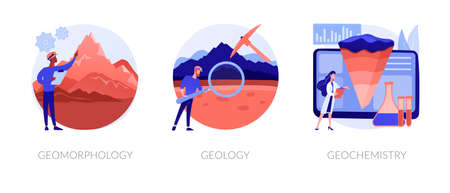 Earth science abstract concept vector illustrations.
