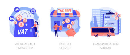 Taxation control abstract concept vector illustrations.