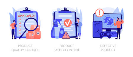 Product manufacturing abstract concept vector illustrations. 矢量图像