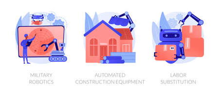 Artificial intelligence in industry abstract concept vector illustrations.