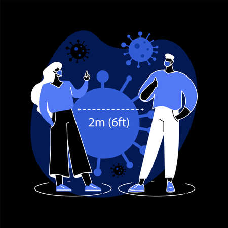 Keep distance abstract concept vector illustration.