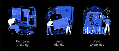 Brand management abstract concept vector illustrations.