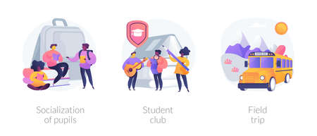 School environment abstract concept vector illustrations.
